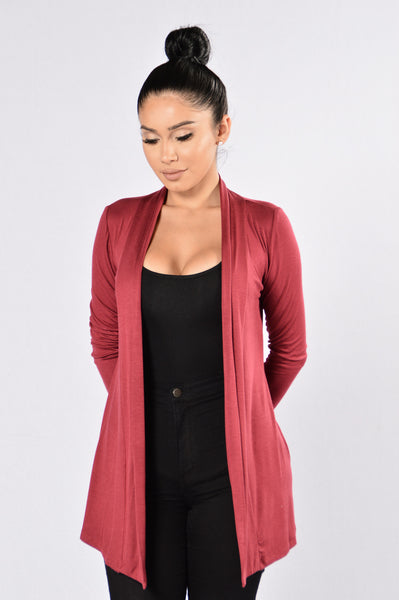 Forever Yours Cardigan - Burgundy
