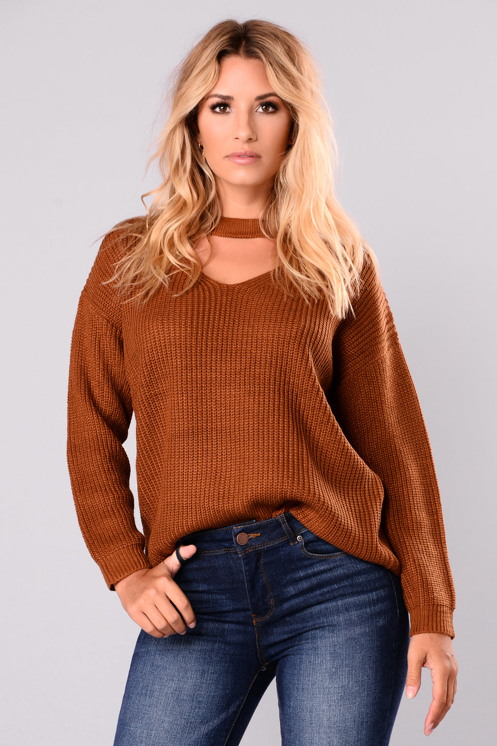 Do It Again Sweater - Camel