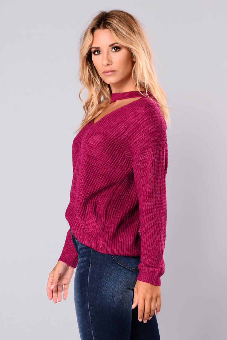 Do It Again Sweater - Magenta