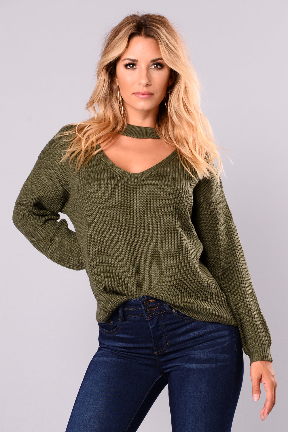 Do It Again Sweater - Olive
