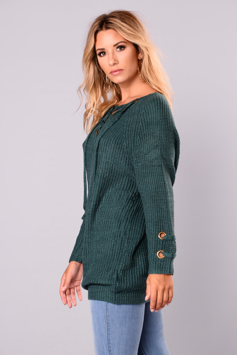Lake Boat Sweater - Teal