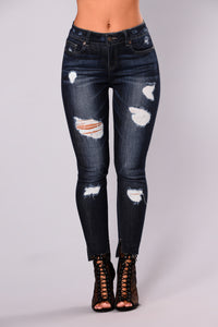 Saved By The Bell Skinny Jeans - Dark Denim