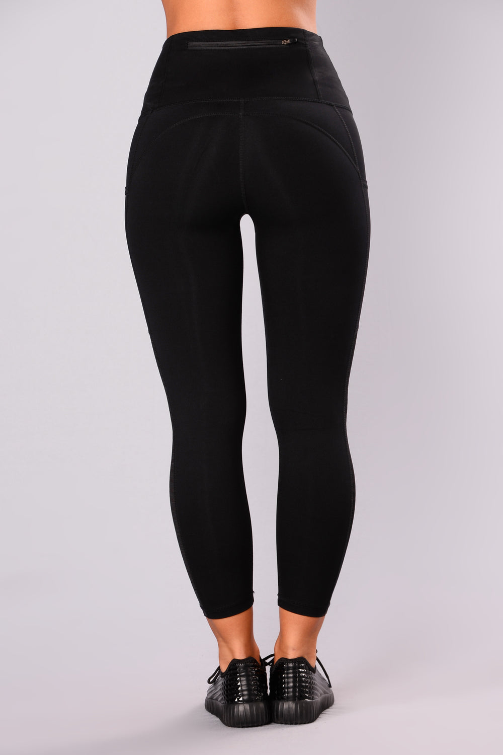 Obstacle Course Mesh Active Leggings - Black