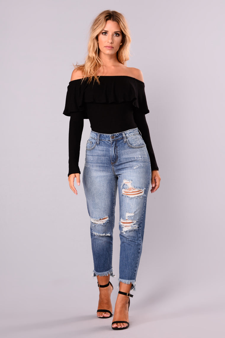 Chic And Sweet Top - Black