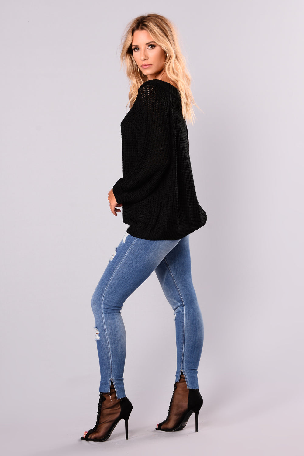 Basia Oversized Sweater - Black