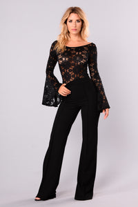 Crazy For It Lace Bodysuit - Black