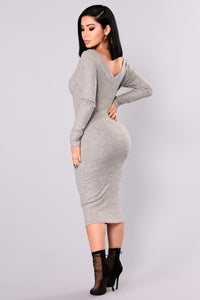 Stockholm Midi Dress - Heather Grey