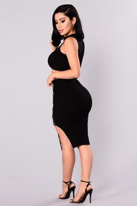 Tyanna Ribbed Set - Black