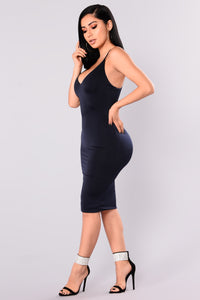 Anne Marie Midi Dress - Navy