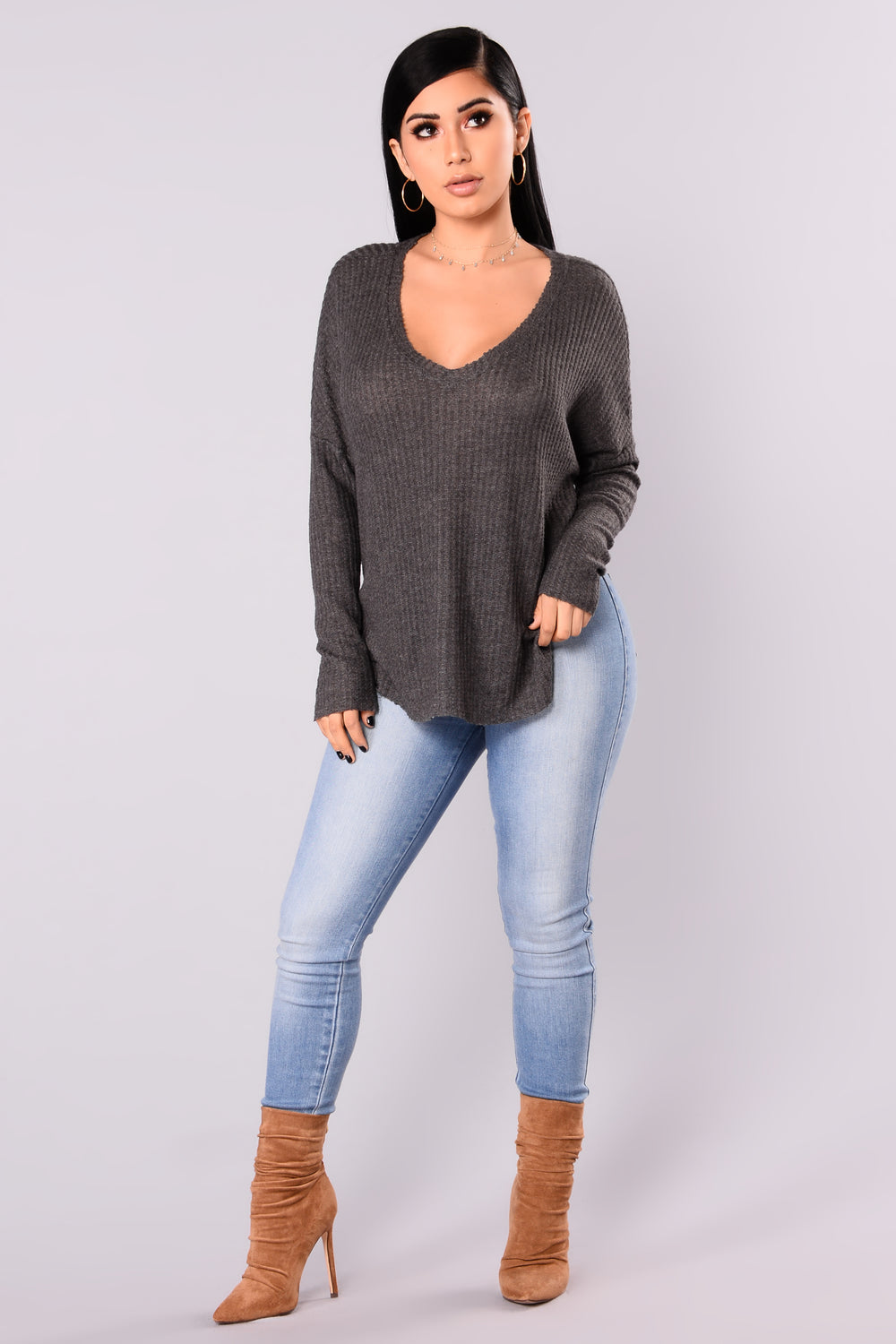 Mina Lounge Tunic - Ash Grey