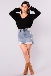 Hot Chocolate Sweater - Black