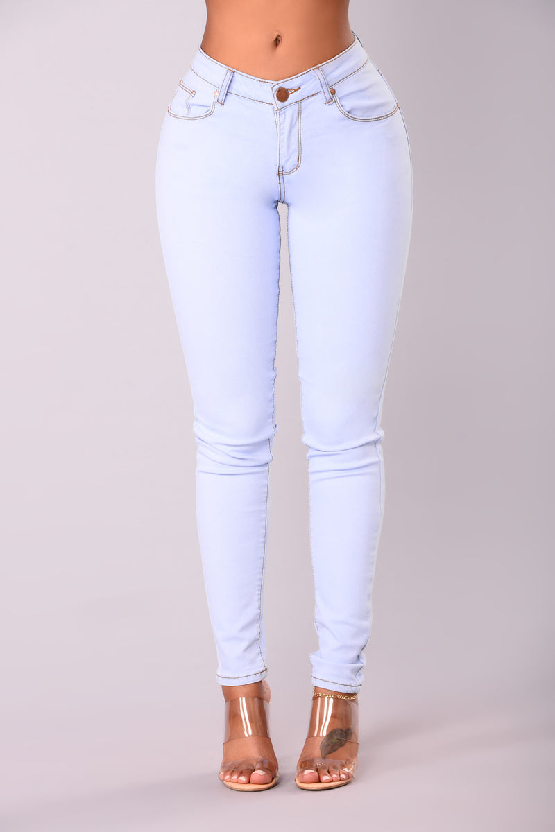 All Access Pass Skinny Jeans - Light Blue Wash