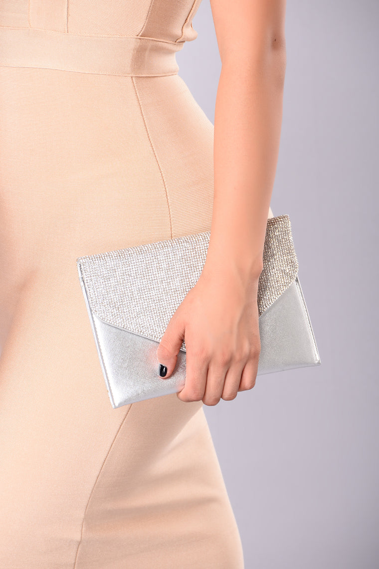 Drippin' In Diamonds Crossbody - Silver