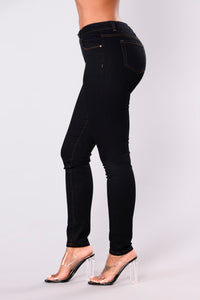 Happy Wife Happy Life Skinny Jeans - Dark Denim