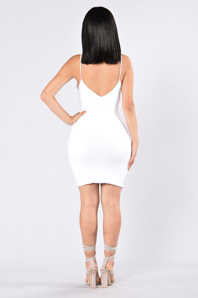 Take Me Out to the Bar Dress - White