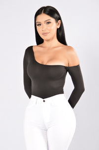 Get In Line Bodysuit - Black Angle 1