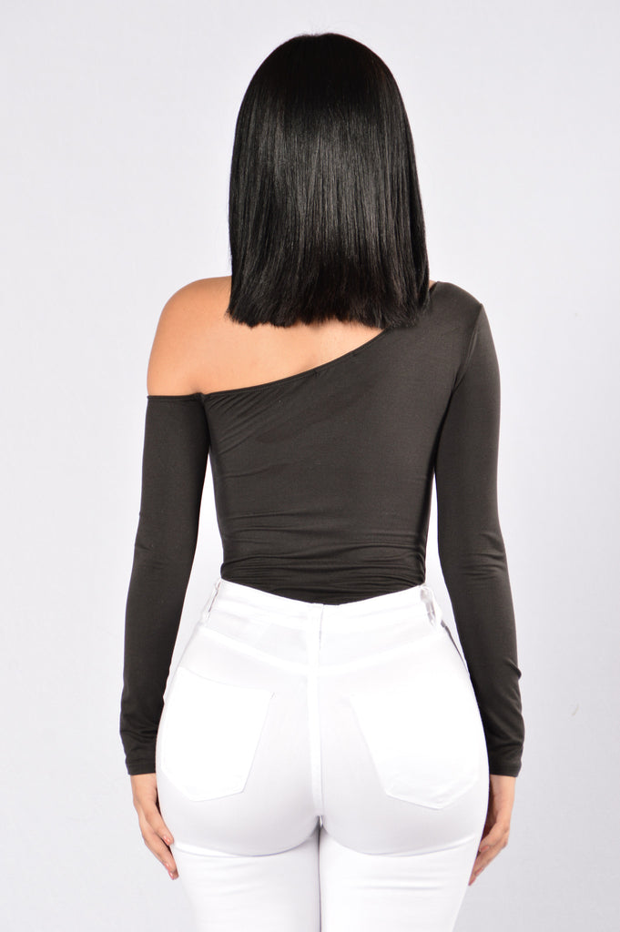Get In Line Bodysuit - Black