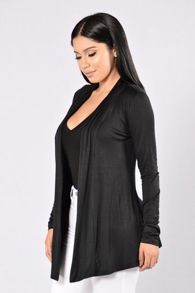Forever Yours Cardigan - Black