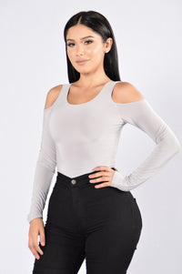 Seduction Bodysuit - Light Grey