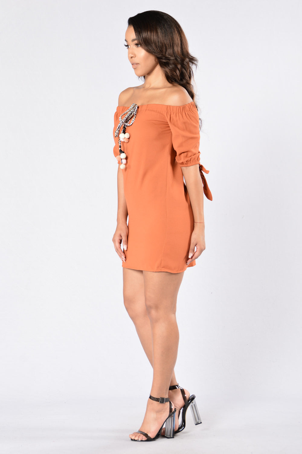 Day Dreamer Dress - Brick