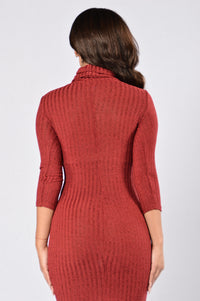 Robi Dress - Burgundy