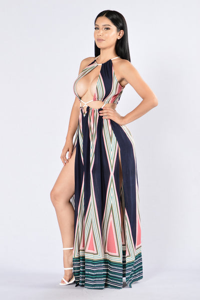 By The Sea Maxi Dress- Navy