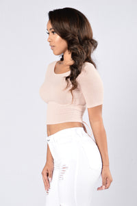 Time Travel Top - Dusty Pink
