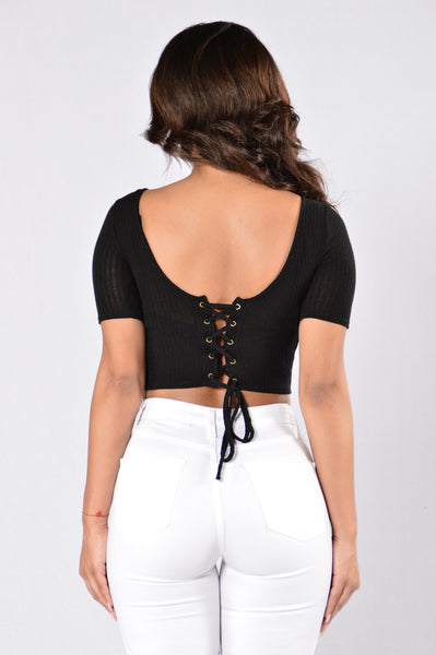 Time Travel Top - Black