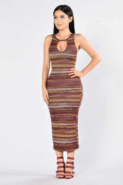 High Definitions Dress - Plum Multi