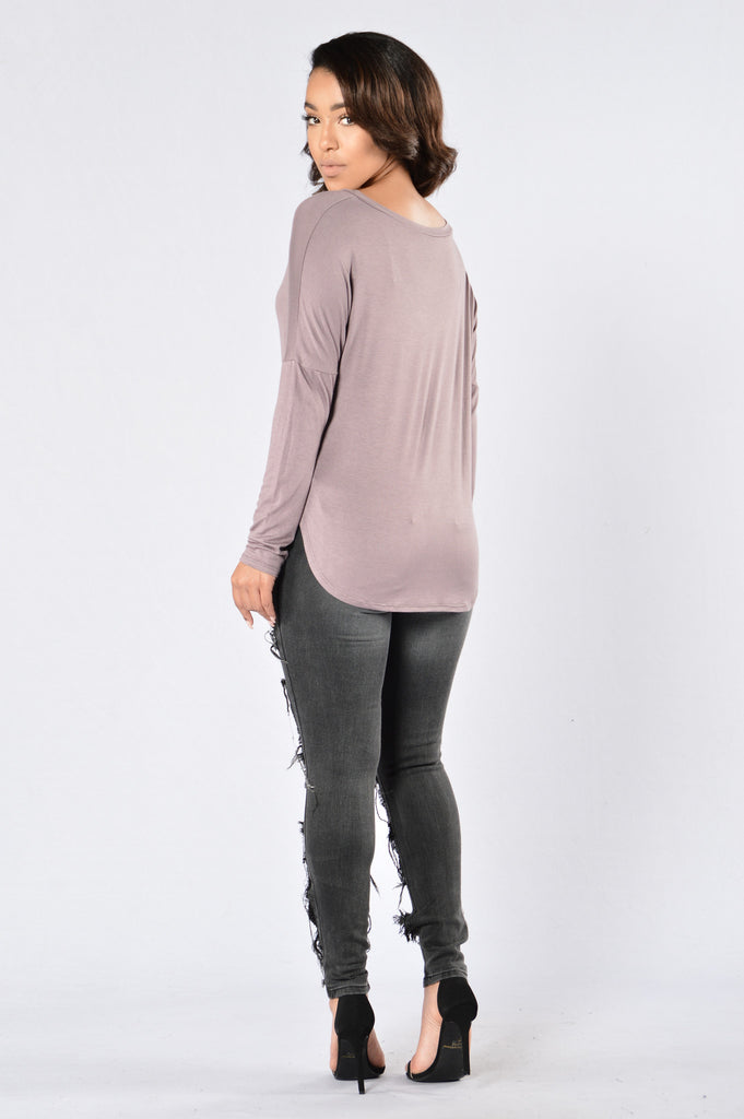 All Day Everyday Top - Purple Grey