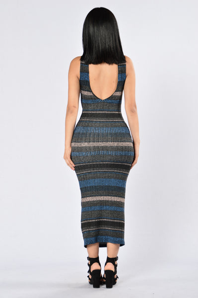 High Definitions Dress - Blue Multi