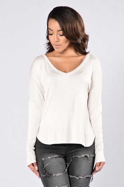 All Day Everyday Top - Light Grey