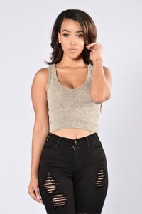 Out The Hood Top - Taupe