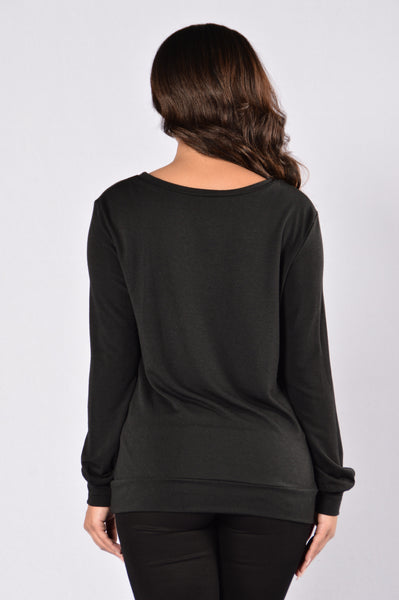 Deep Sleep Sweater - Black