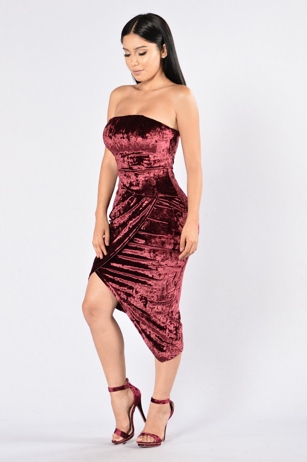 velvet dress burgundy forever nova dresses