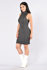 Winter Walk Dress - Charcoal