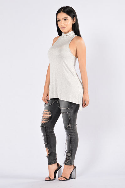 Call It a Day Tank Top - Heather Grey