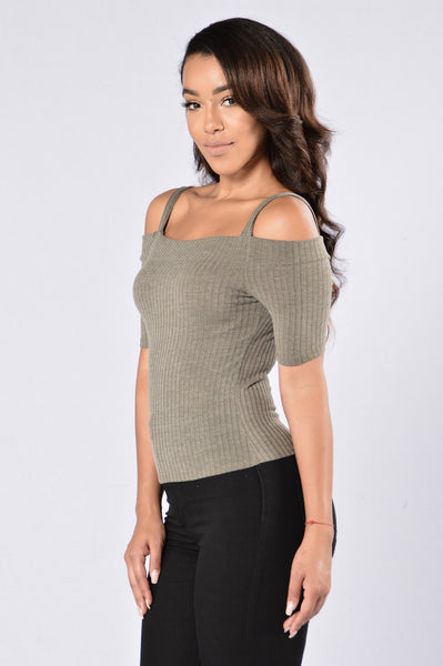 High Wine Top - Olive