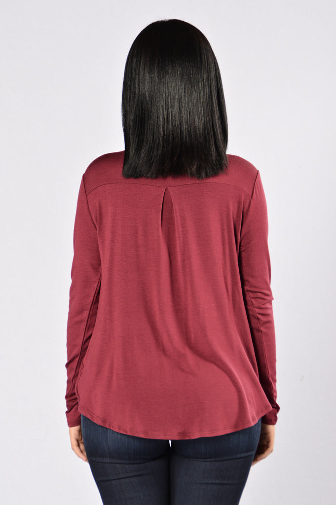 Crossed Off Top - Burgundy