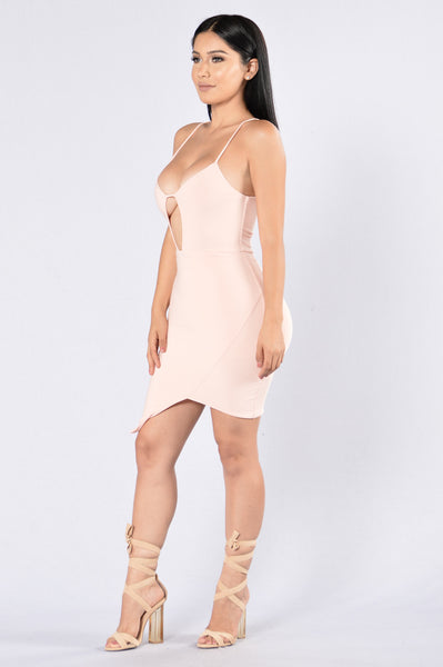 Take Me Out to the Bar Dress - Blush