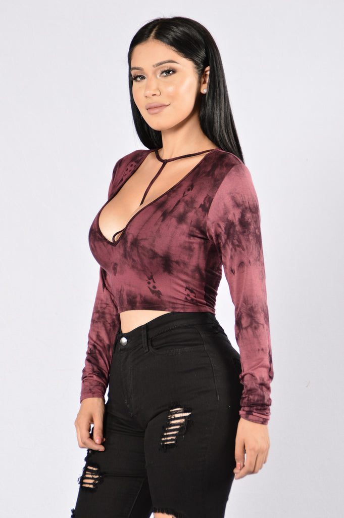 Queen Of My Heart Top - Wine