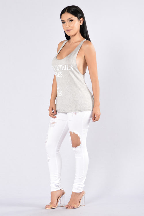Vacation Goals Tank - Grey