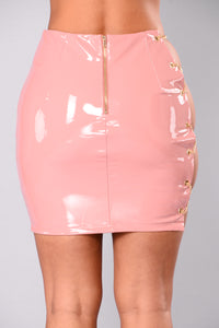 Stunner Girl Latex Skirt - Mauve