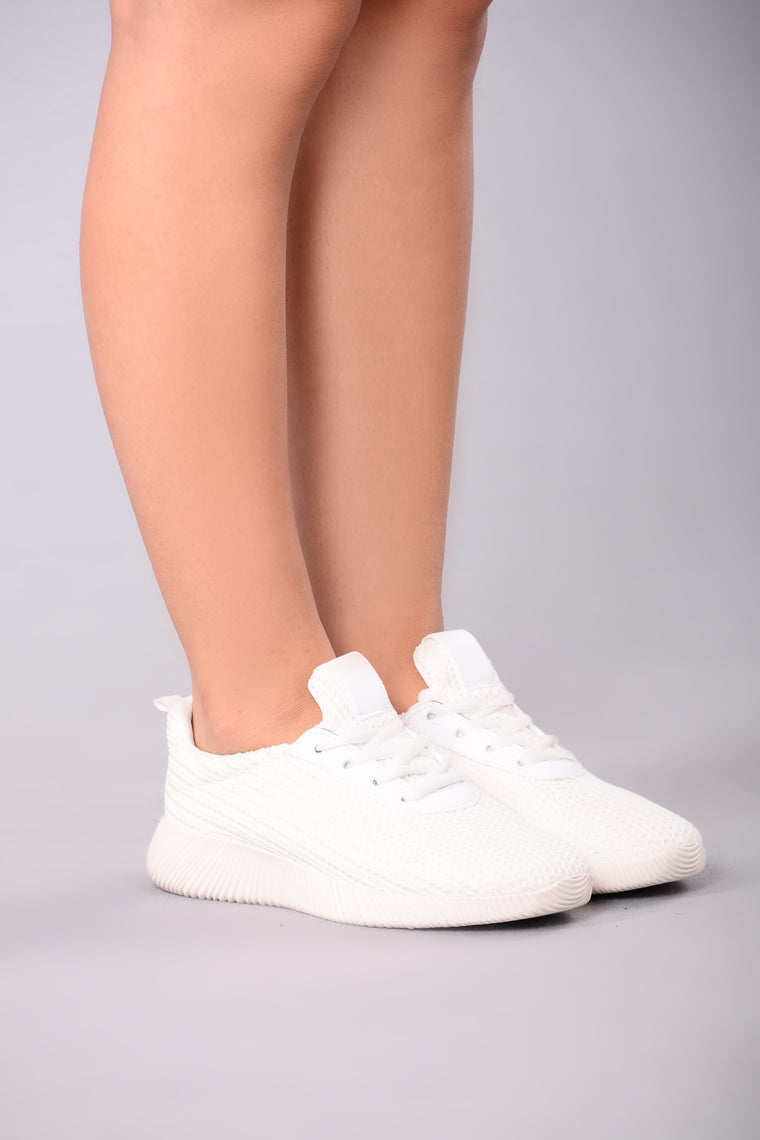 Kick It Up Sneakers - White, Shoes