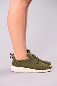 Kick It Up Sneakers - Olive
