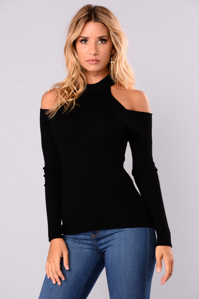 Addeva Long Sleeve Pullover - Black