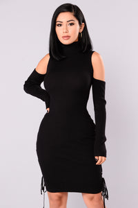 Making Up Knit Dress - Black