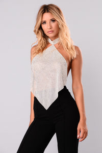 Caterina Metal Top - Silver