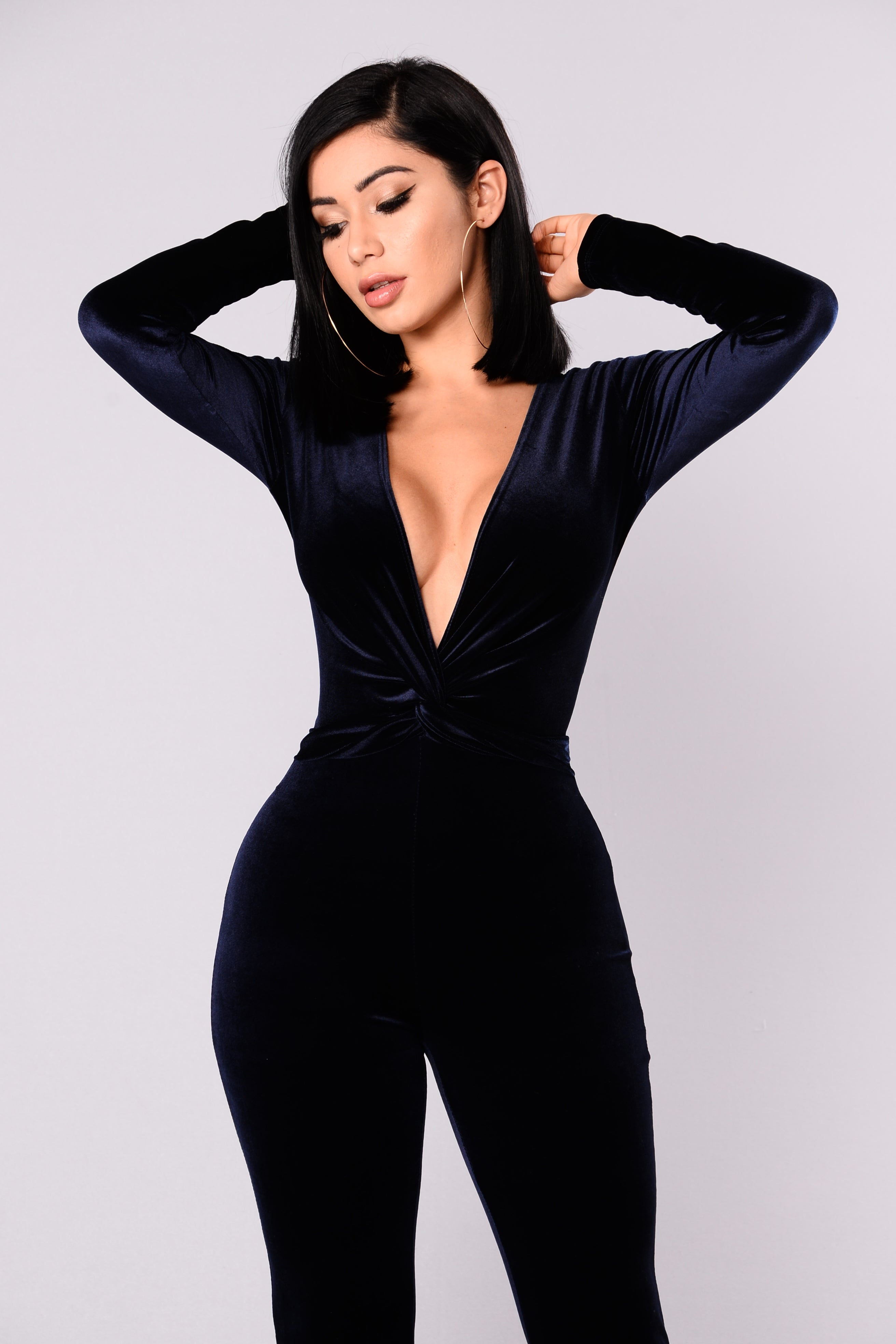 d295a6bc4c1c Jump In The Cadillac Velvet Jumpsuit - Navy