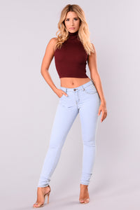Izabella Sweater Top - Zinfandel
